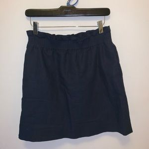 J crew ruffle top navy skirt size 4